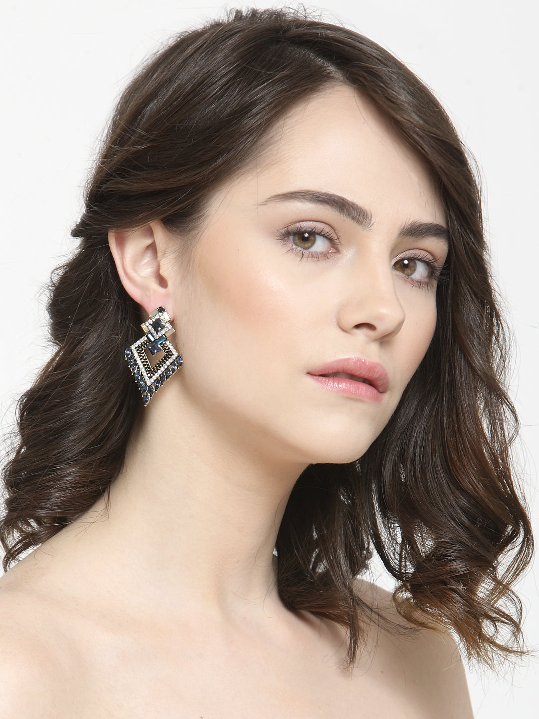 Avant-Garde Paris Vintage Crystal Stud Earrings