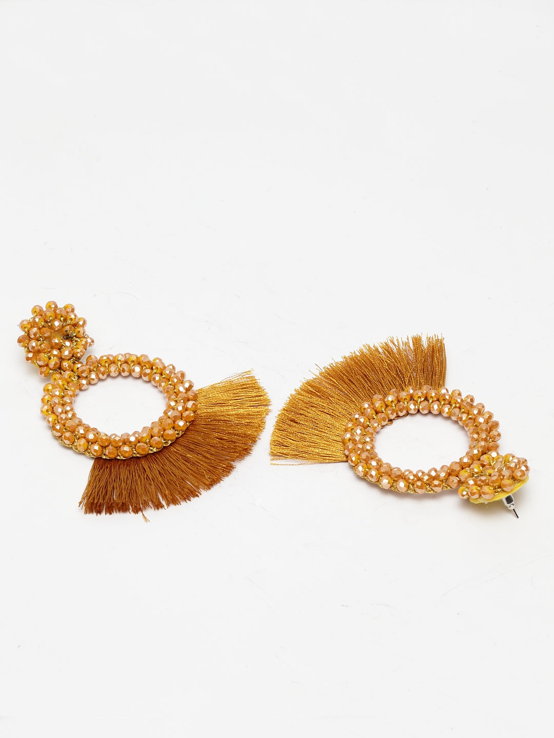 Avant-Garde Paris Statement Beaded Tassel Earrings
