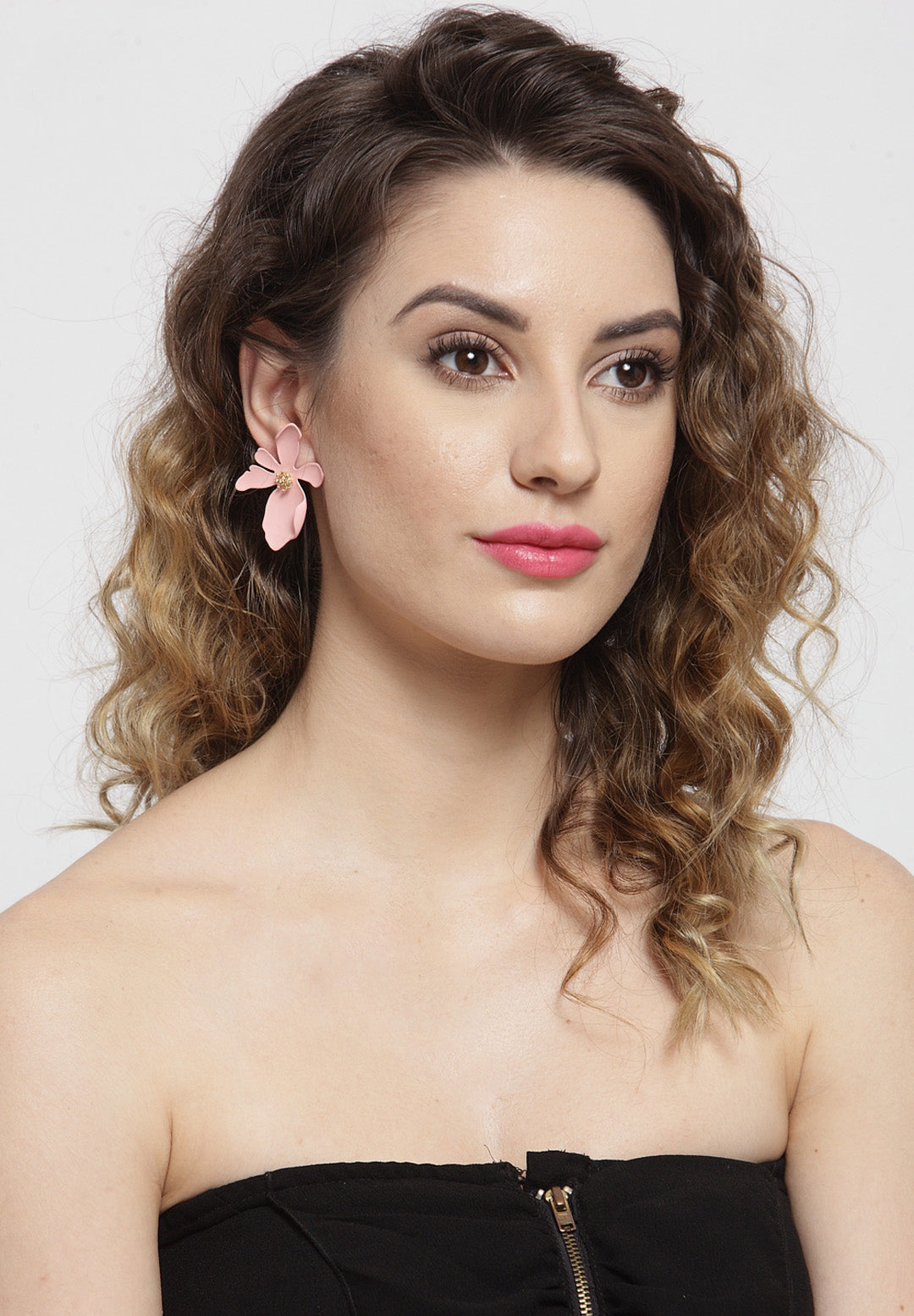 Avant-Garde Paris Beautifully Crafted Acrylic Floral Earrings