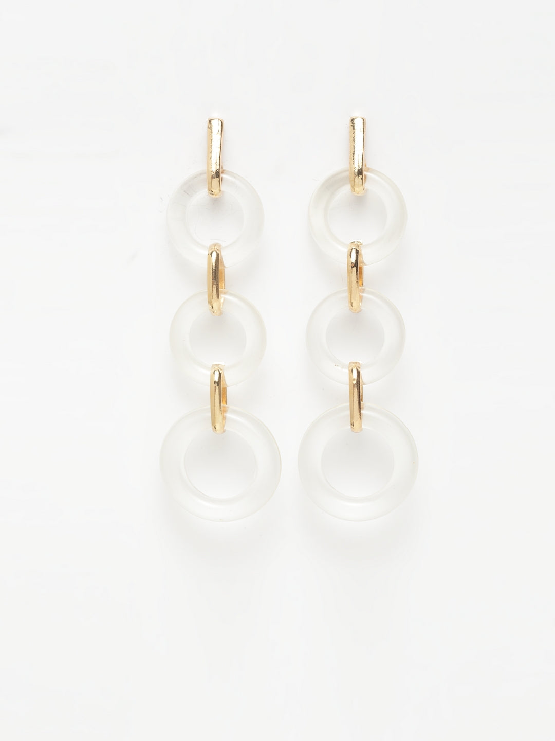 Avant-Garde Paris Long Acrylic Statement Earrings