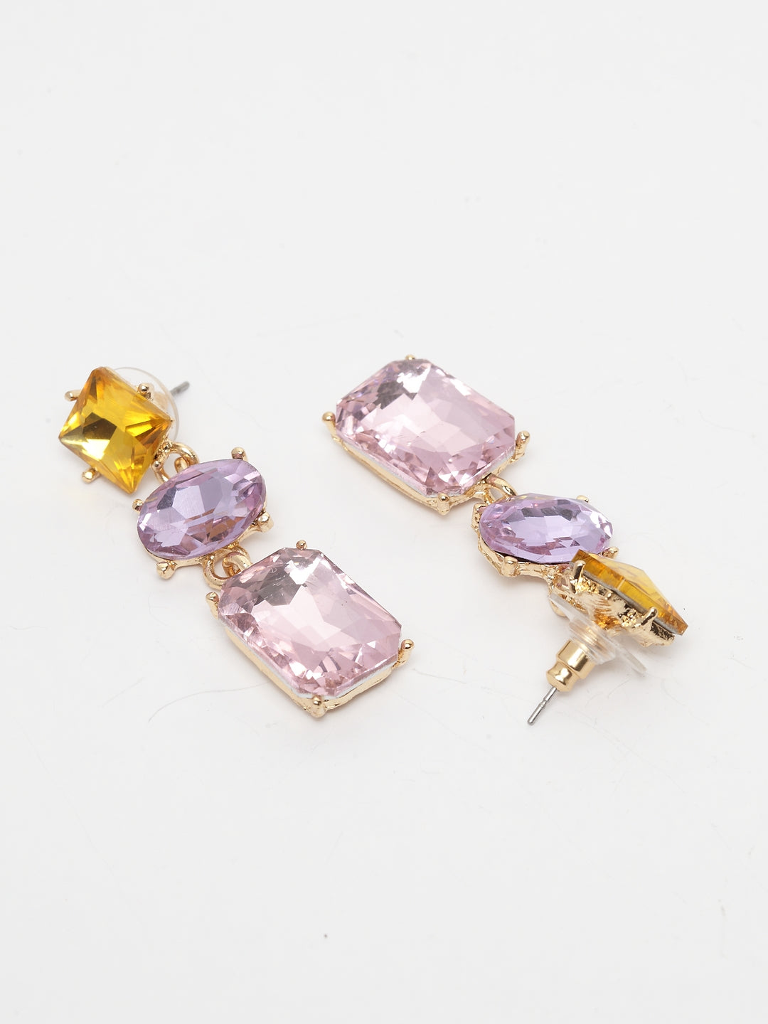 Avant-Garde Paris Multicolored Bling Crystals Earrings