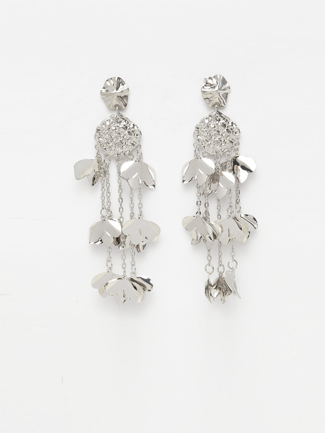 Avant-Garde Paris Metallic Long Tassel Earrings