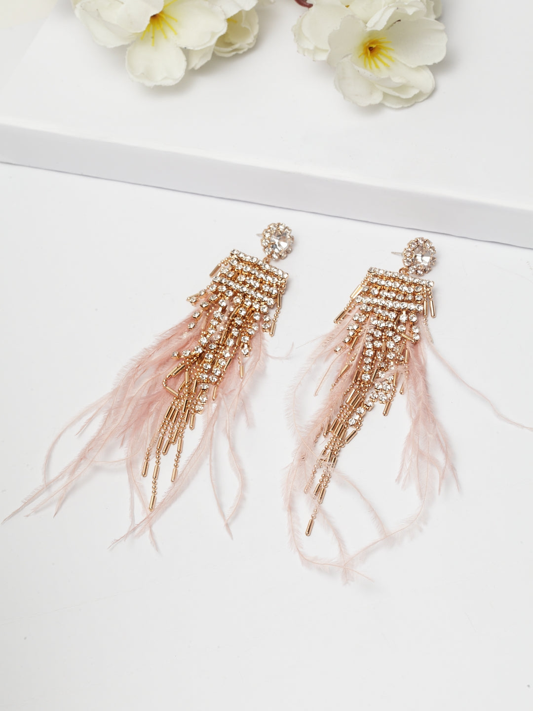 Avant-Garde Paris Luxury Crystal Dangle Earrings