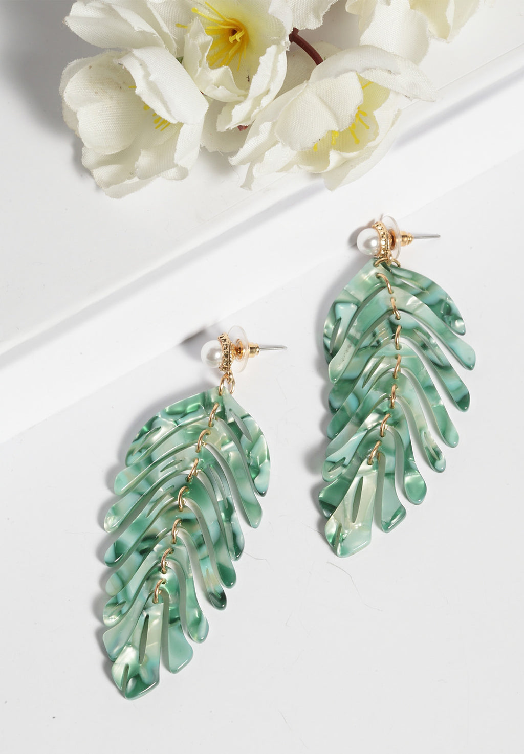 Avant-Garde Paris Exotic Leaf Earrings