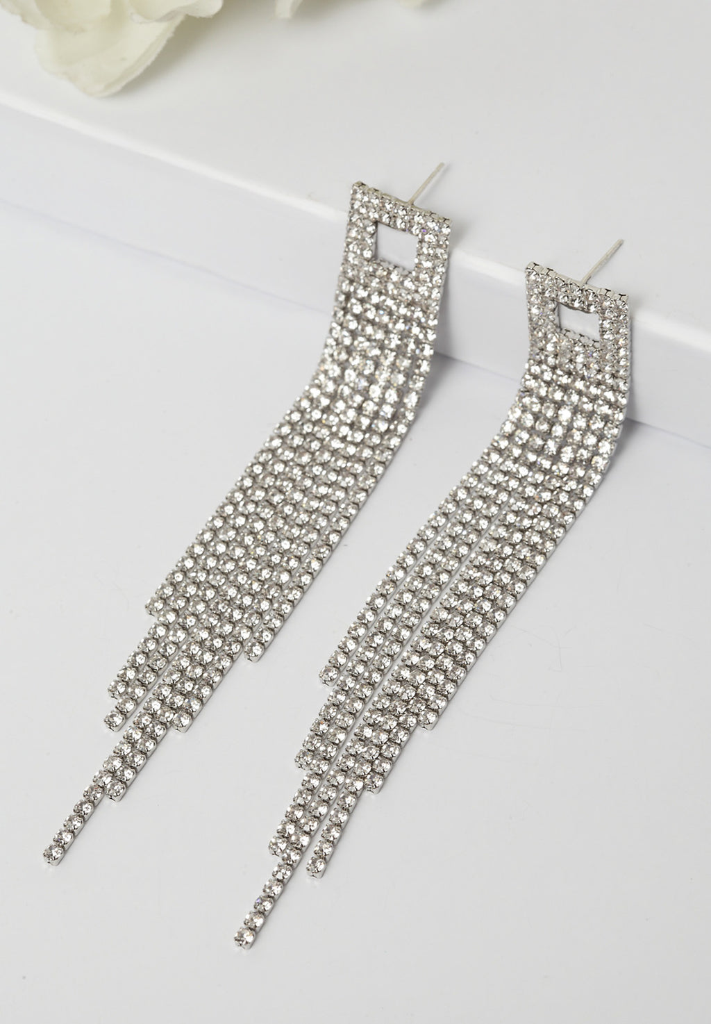 Avant-Garde Paris Timeless Delicate Crsytal Earrings