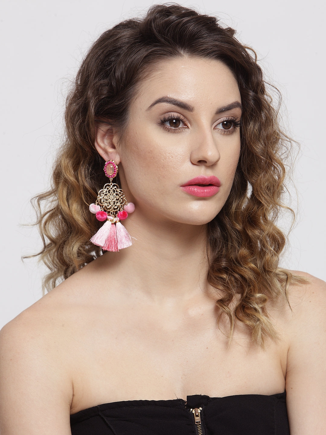 Avant-Garde Paris Floral Inspired Tassel Earrings