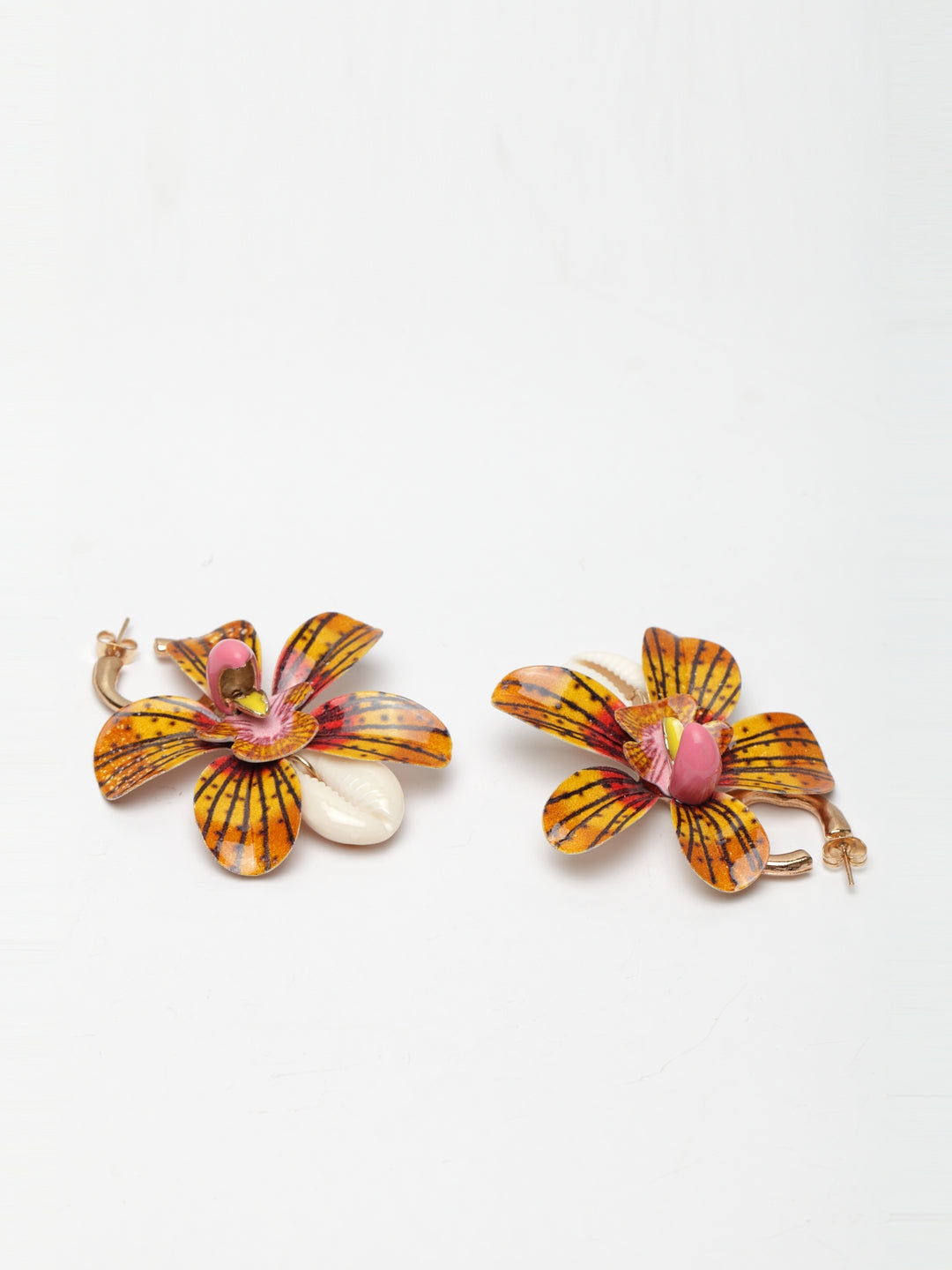 Avant-Garde Paris Statement Bohemian Big Flower Drop Earrings