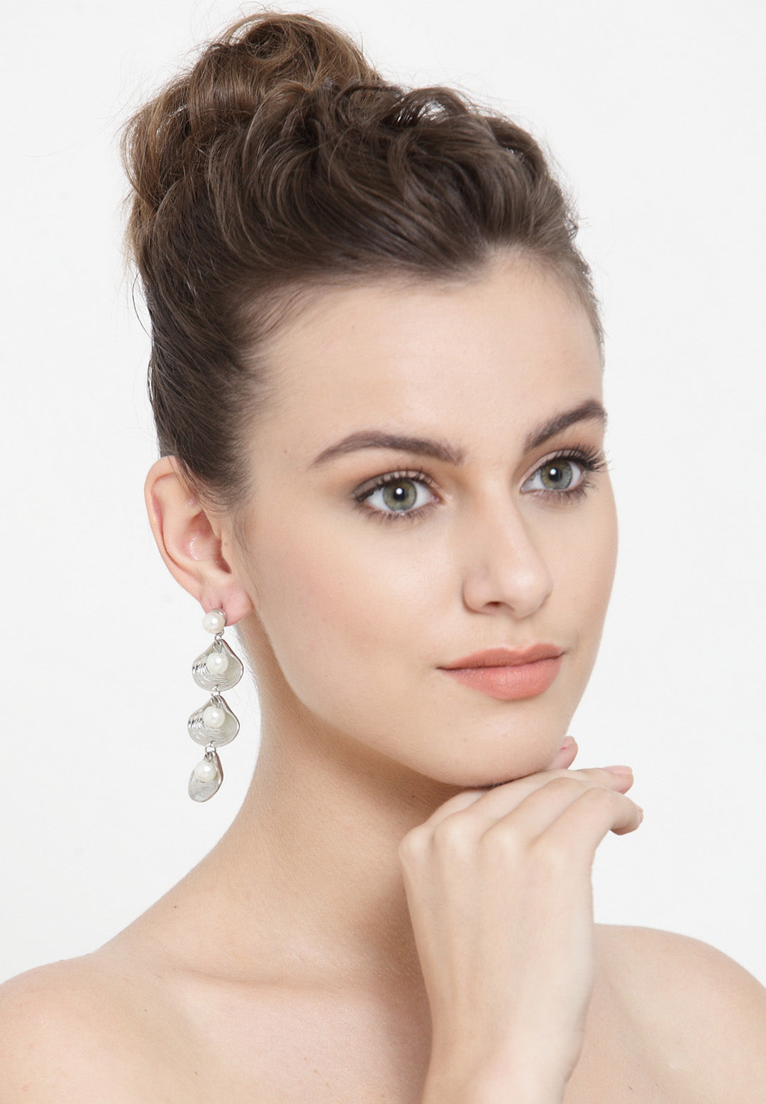 Avant-Garde Paris Statement Sea Shell Conch Teardrop Earrings