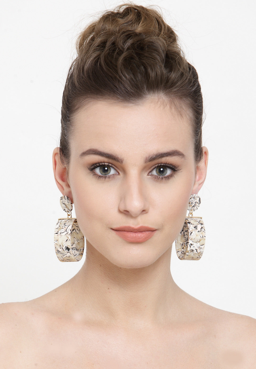 Avant-Garde Paris Statement Bohemian Cute Acrylic Big Hoop Earrings