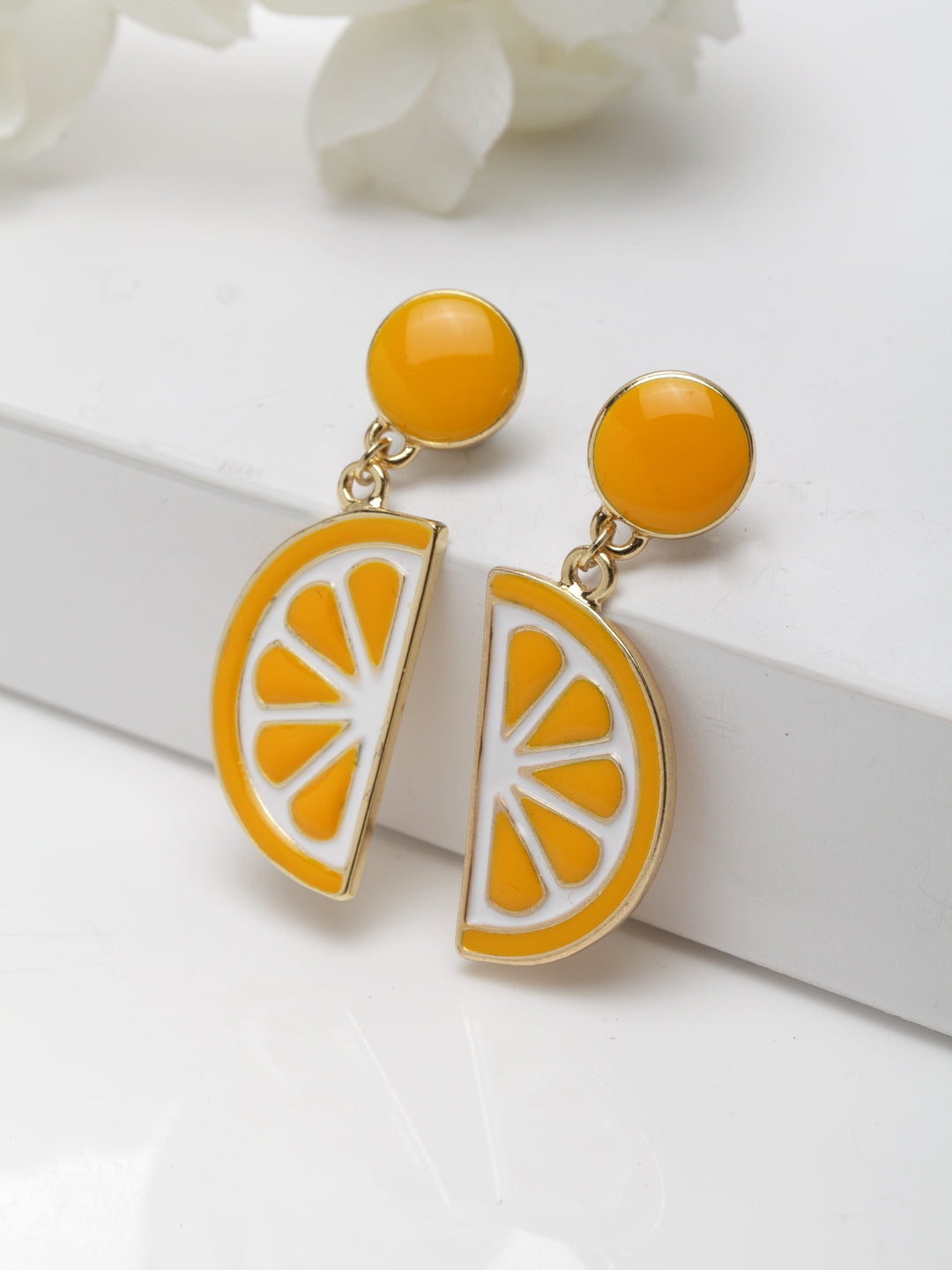 Avant-Garde Paris Cute Statement Enamel Drop Earrings