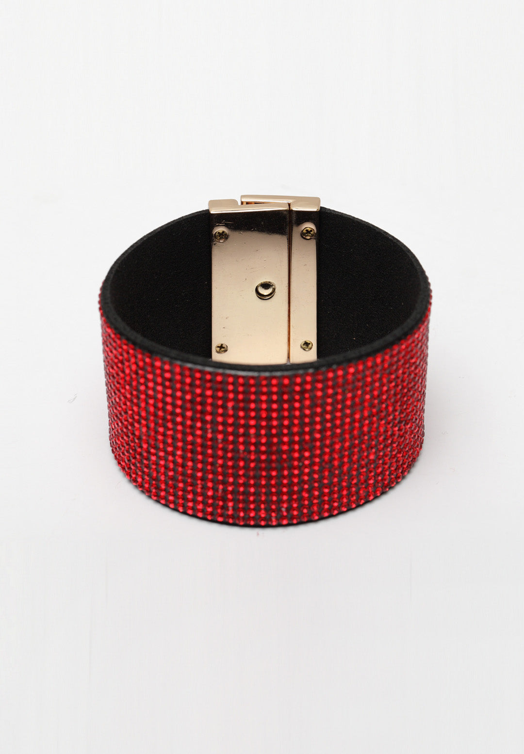 Avant-Garde Paris Luxury Crystal Studded Leather Bracelet