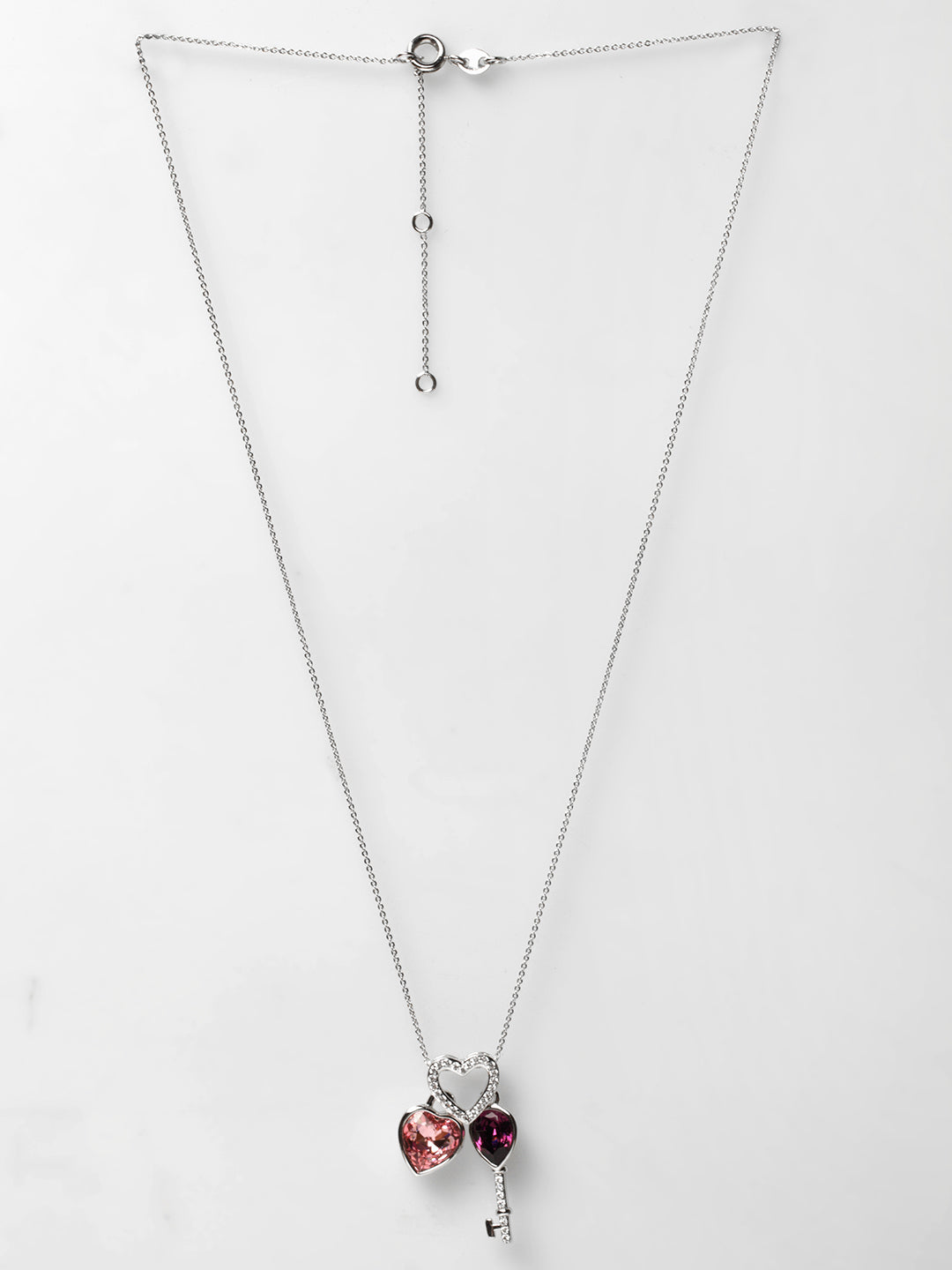 Avant-Garde Paris Crystallized with Swarovski Heart and Key Pendant