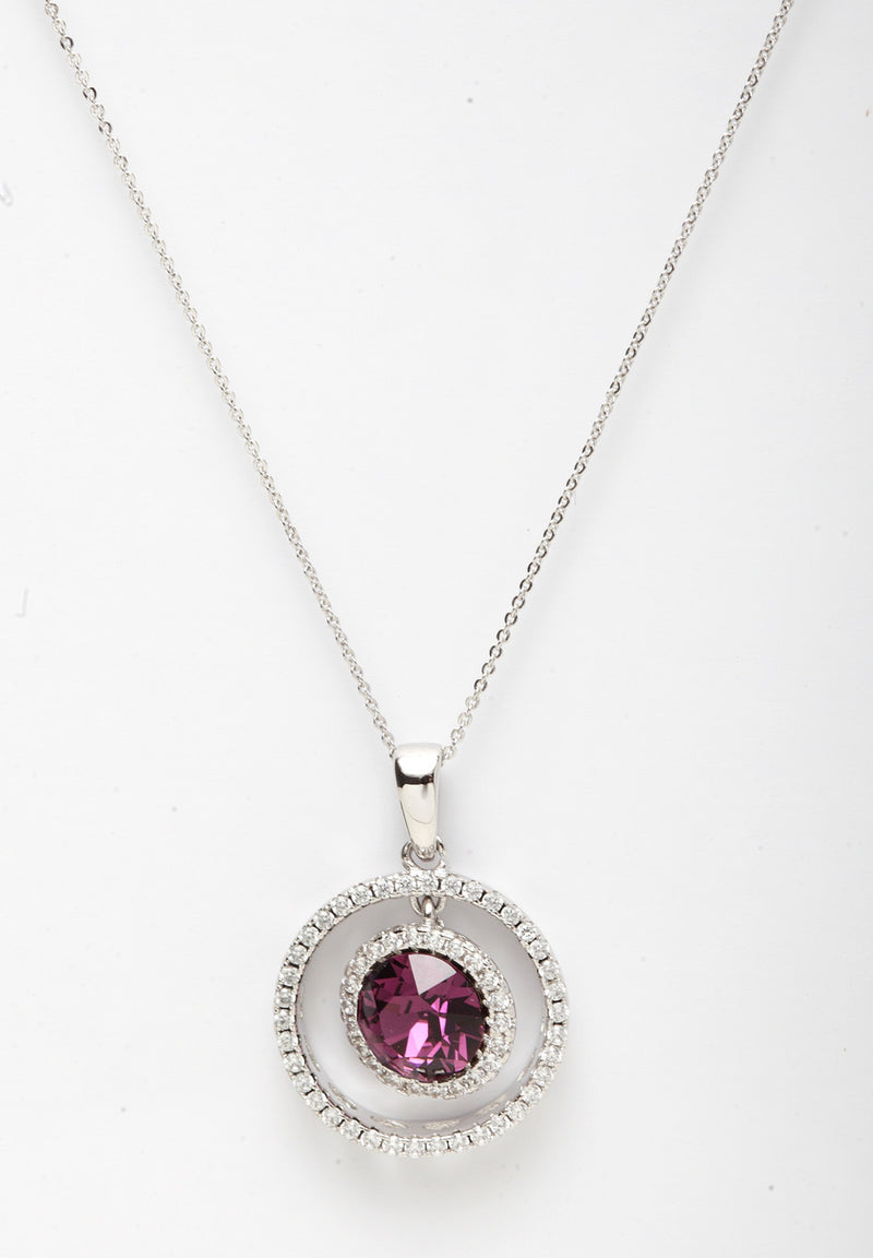 Avant-Garde Paris Crystallized with Swarovski Circle Pendant