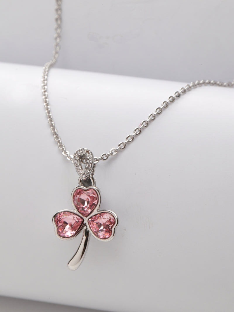 Avant-Garde Paris Crystallized with Swarovski Clover Leaf Pendant
