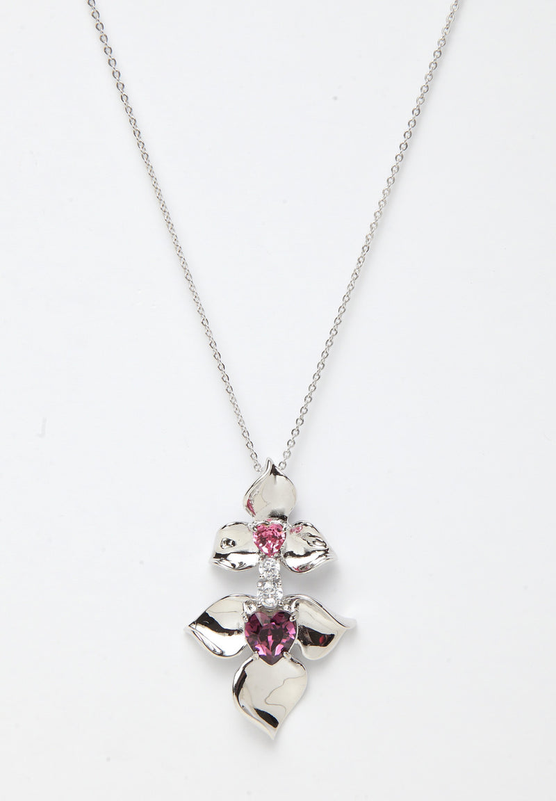 Avant-Garde Paris Crystallized with Swarovski Floral Pendant