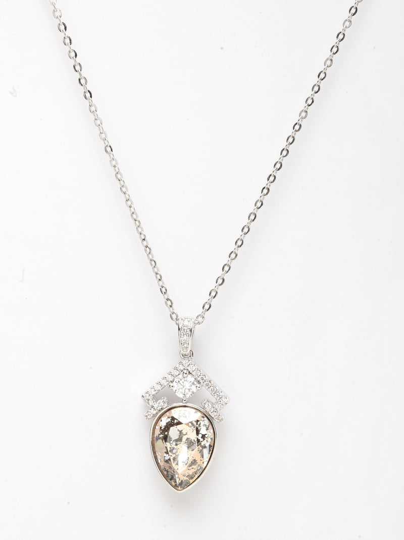 Avant-Garde Paris Crystallized with Swarovski Pear Drop Pendant