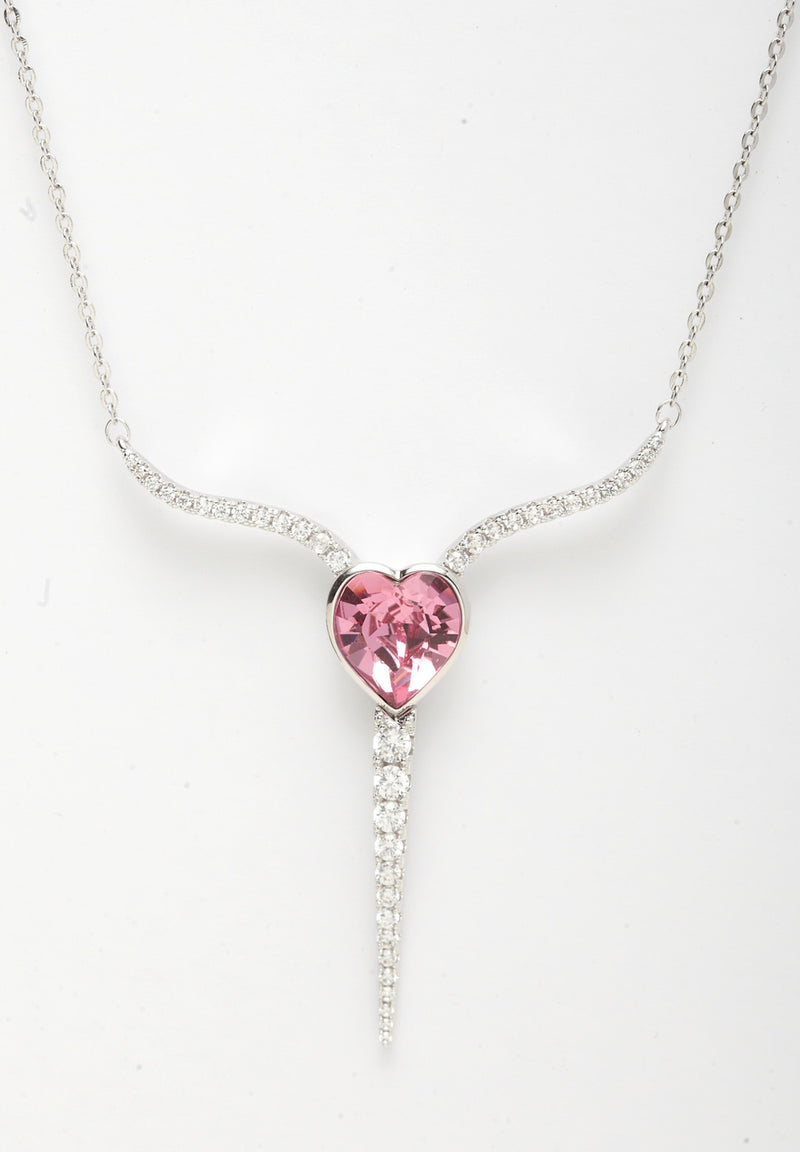 Avant-Garde Paris Crystallized with Swarovski Heart Arc Pendant