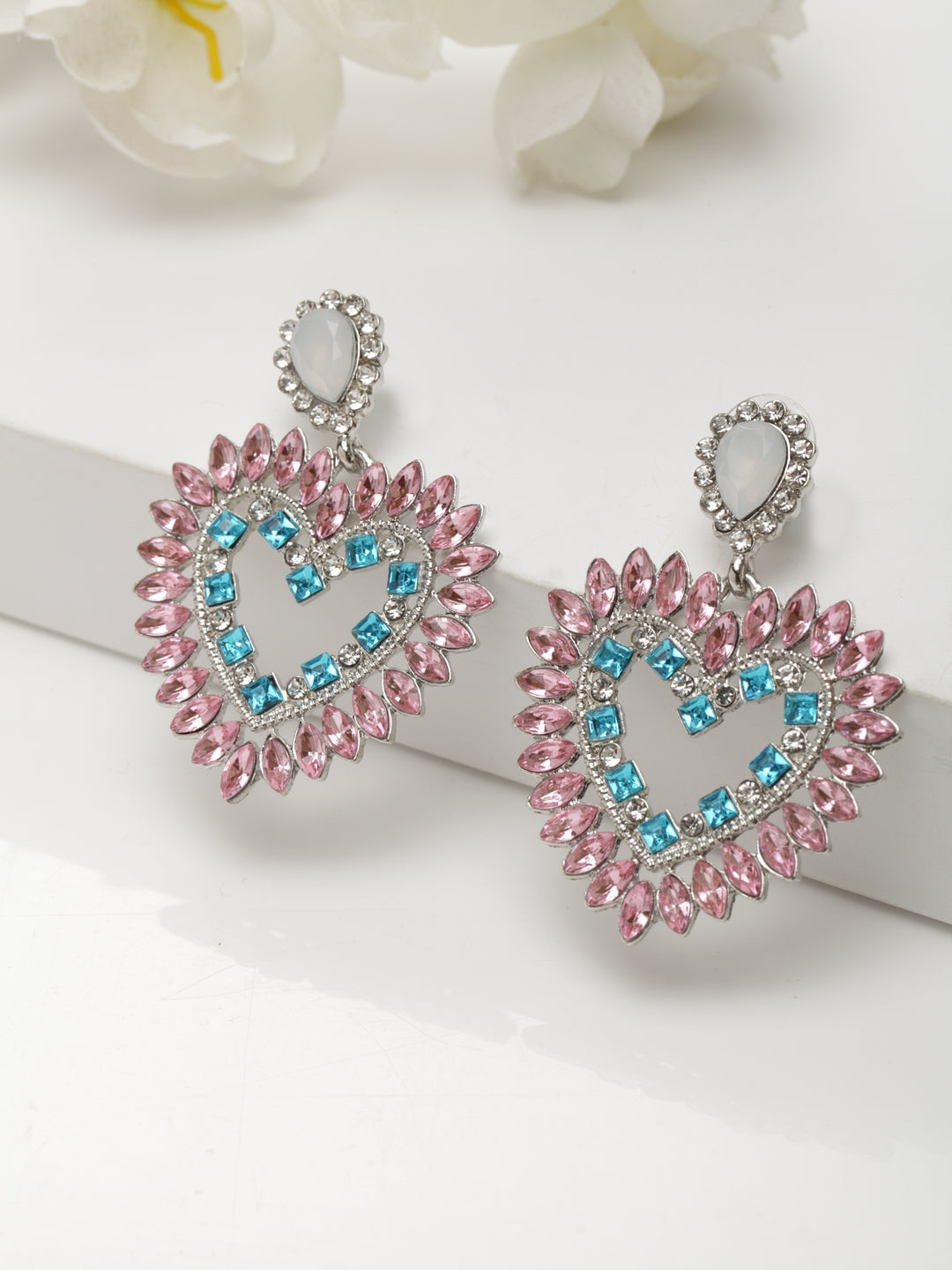 Avant-Garde Paris Statement Heart Earrings