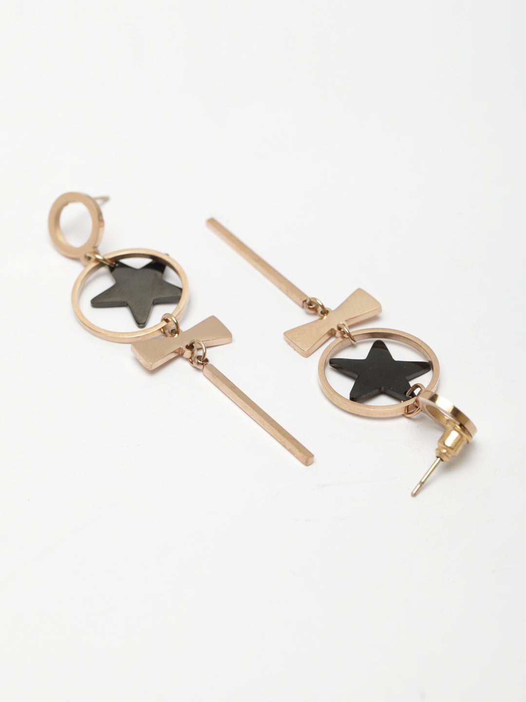 Avant-Garde Paris Geometric Star Pierced Earrings