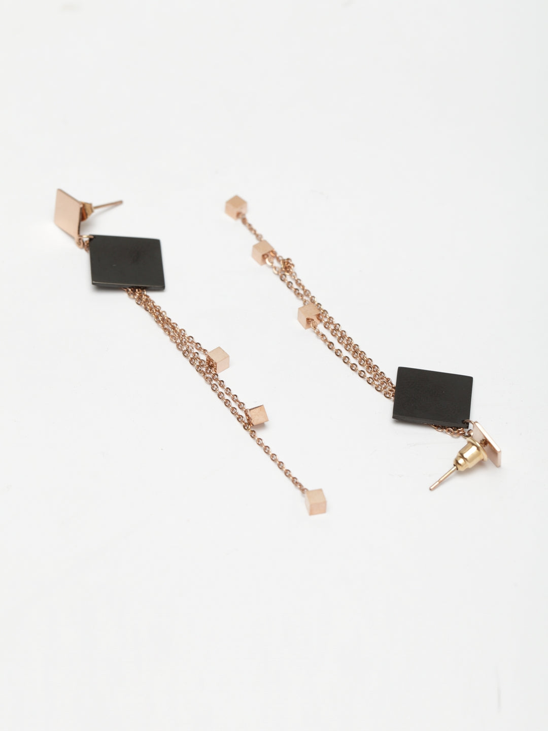 Avant-Garde Paris Geometric Drop Pierced Earrings