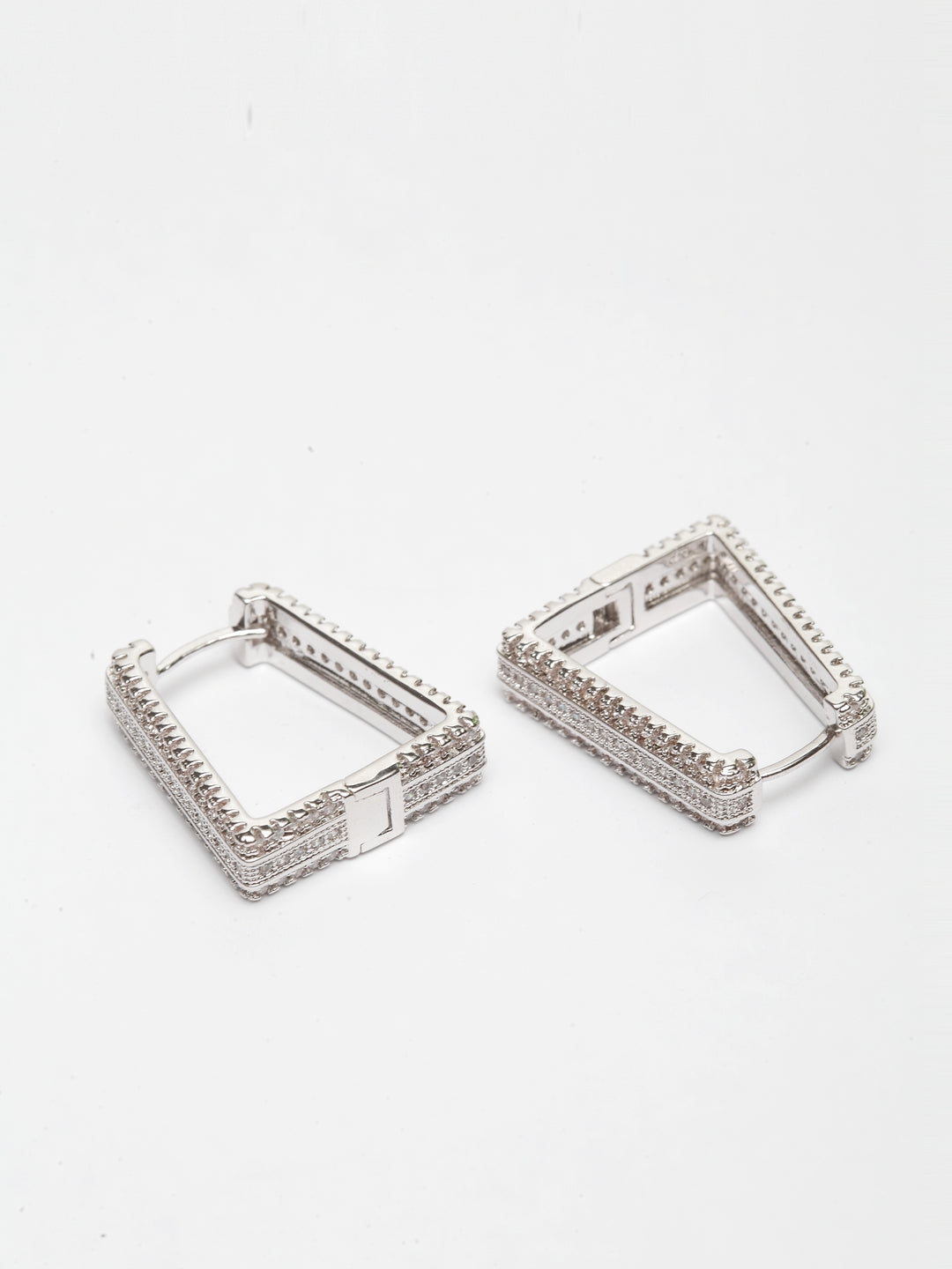 Avant-Garde Paris Luxury Cubic Zirconia Hoop Earrings