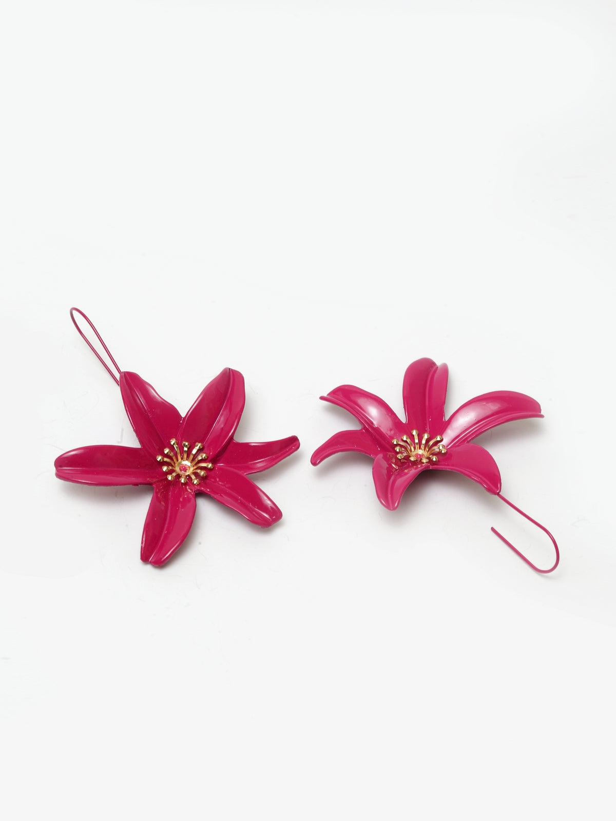 Avant-Garde Paris Gold Plated Flower Earrings