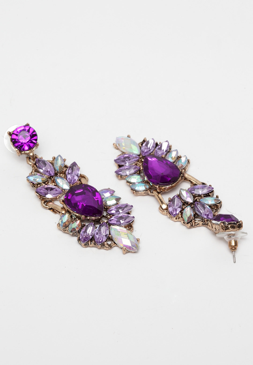 Avant-Garde Paris Mystery Purple Bohemian Multicolored Vintage Statement Earrings