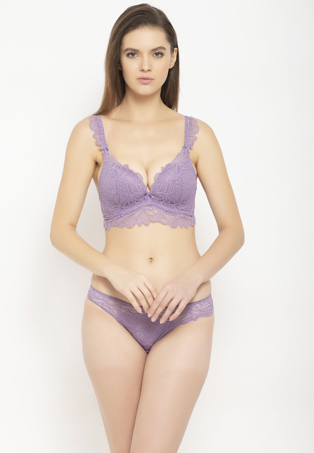 Avant-Garde Paris Padded Non-wired Lace Lingerie Set