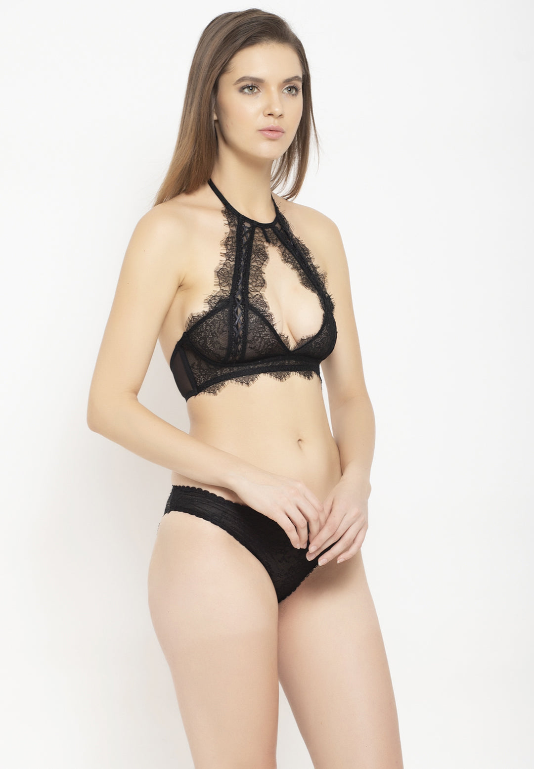 Avant-Garde Paris Non Padded Non-wired Lace Bra Set