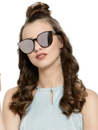 Avant-Garde Paris Fashion Women Mirror Sun Shades Glasses