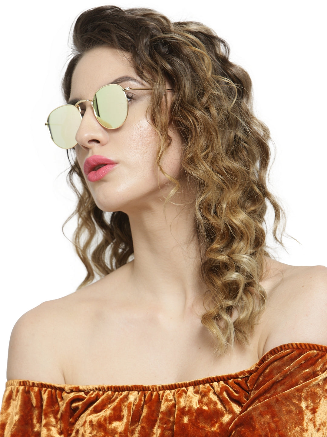Avant-Garde Paris Alloy Temple PC Lens Round Women Mirror Sunglasses