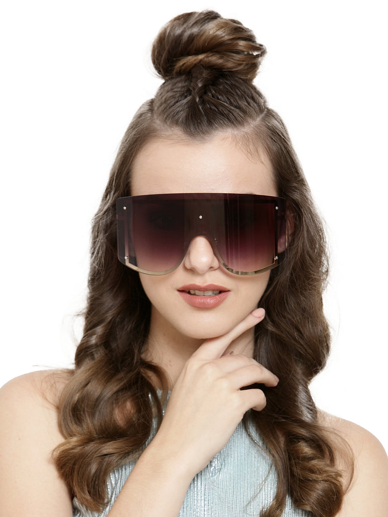 Avant-Garde Paris Womens Big Frameless Gradient Lens Fashion Sunglasses