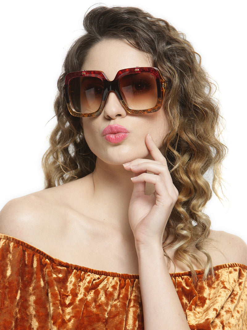 Avant-Garde Paris Trendy Oversized frame Fashion Square Sunglasses