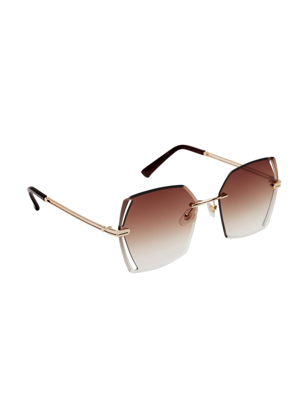 Avant-Garde Paris Ocean Lens Square Rimless Sunglasses