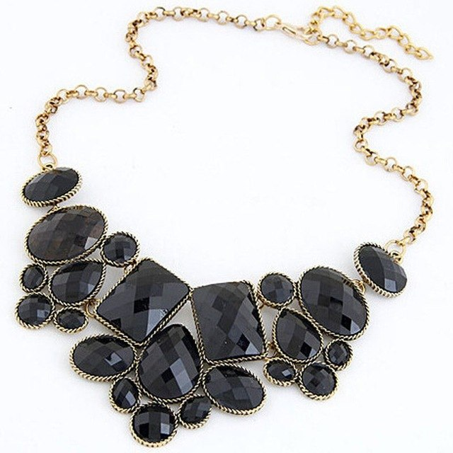 HOT selling Vinatge Jewelry Gem Choker black