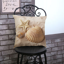 Load image into Gallery viewer, Mediterranean Sea Beach Style Starfish Shell Cushion Covers Pillowcase Decorative Pillow Cover 45x45cm Home Decor