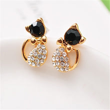 Load image into Gallery viewer, NEW Hot Popular Crystal Cat Earrings For Women