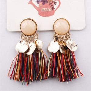 Bohemian Sequins Tassel Earrings for Women