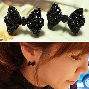 cute bow tie Fashion Stud Earrings