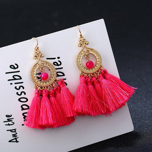 Vintage Fringe Long Tassel Earring for Women Wedding Party