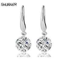 Load image into Gallery viewer, Silver Plated crystal women earrings