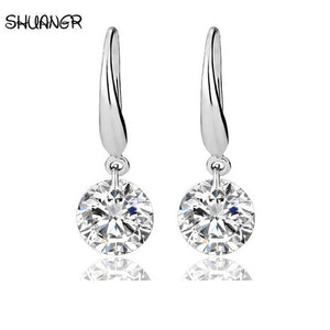 Silver Plated crystal women earrings