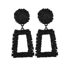 Load image into Gallery viewer, Big Vintage Earrings for Women Gold Silver Black Geometric Statement Earring Fashion Jewelry