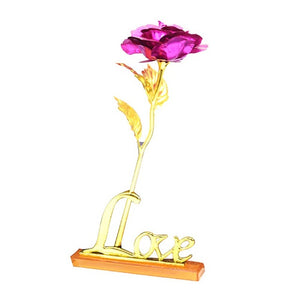 Gold Rose Artificial flowers Home Furnishing decorative Valentine's Day Gift creative wedding gifts 24K gold foil gold rose flow