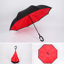 Load image into Gallery viewer, Windproof Reverse Folding Double Layer Inverted Umbrella Self Stand umbrella rain women high quality 2018
