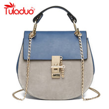 Load image into Gallery viewer, Chain Panelled Women Messenger Bags Women's Cross Body Saddle Lock Handbag Bags