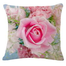 Load image into Gallery viewer, Spring Fashion Rose flower Printed Pillow Cushion Cover