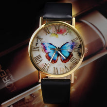 Load image into Gallery viewer, Butterfly Leather Band Quartz Alloy Wristwatch