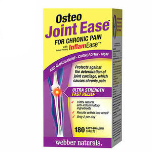 Webber Naturals Osteo Joint Ease with InflamEase, 180 Caplets