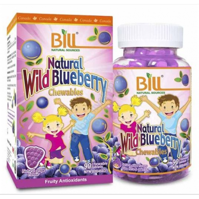 Bill Natural Wild Blueberry, 蓝莓护眼片,90 Tablets